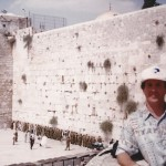Me at the Kotel watching the Israeli soldiers praying.