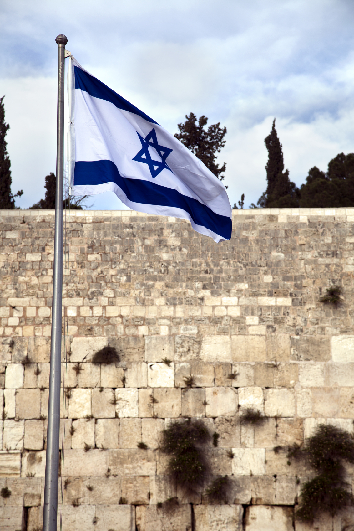 Israel Flag & The Wailing Wall