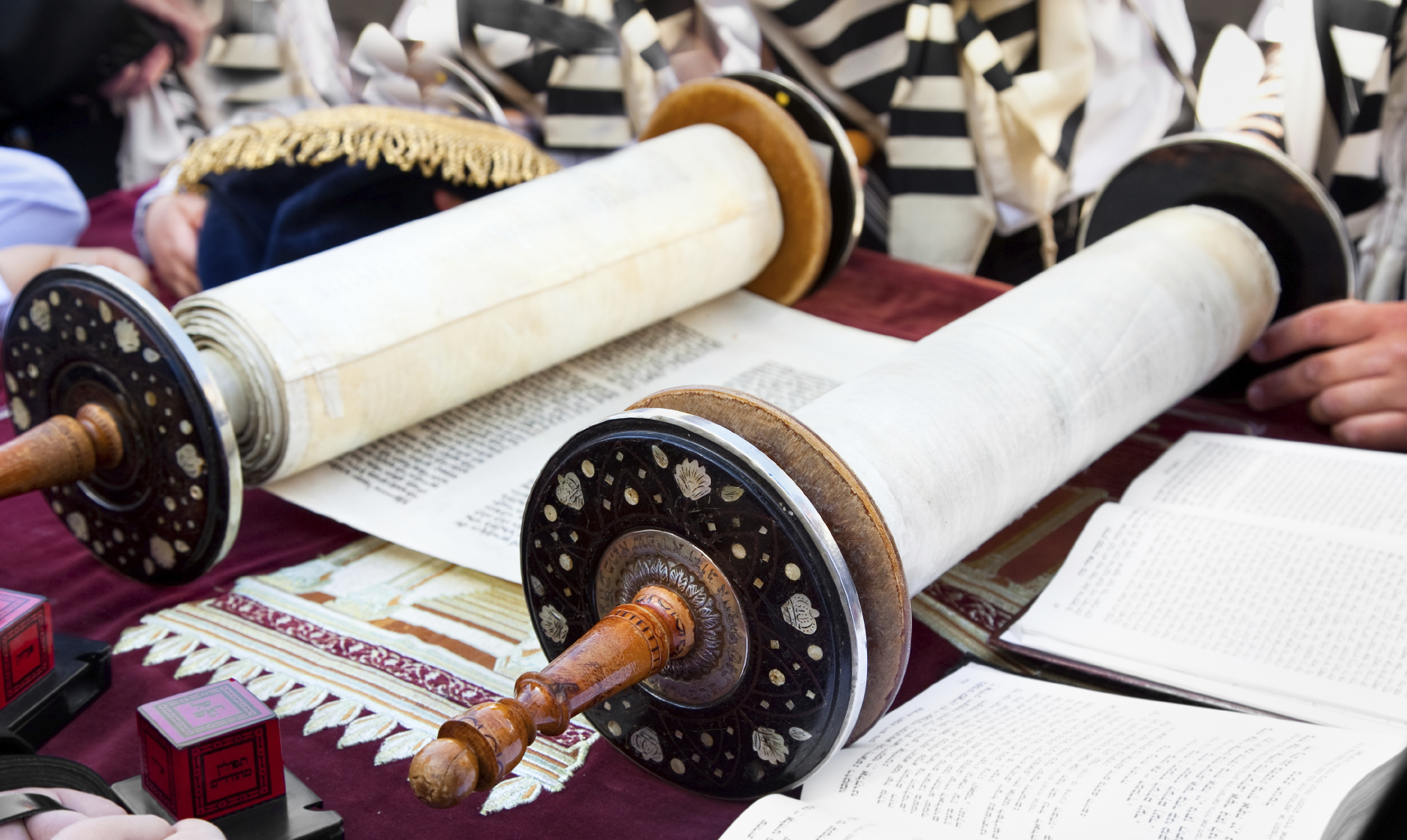Torah- ancient scrolls in Jerusalem